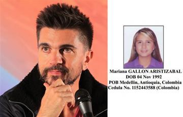 Juanes: La sobrina del artista incluida en la lista de narcotraficantes de EE.UU.