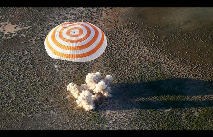 Astronautas vuelven a la Tierra tras 200 días en el espacio