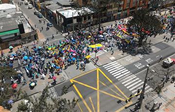 Movilidad en Bogotá colapsa por marchas
