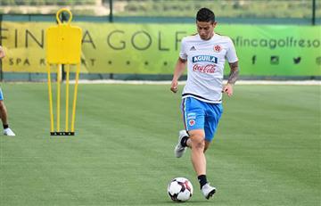 Selección Colombia: James Rodríguez ya entrena con la 'tricolor'
