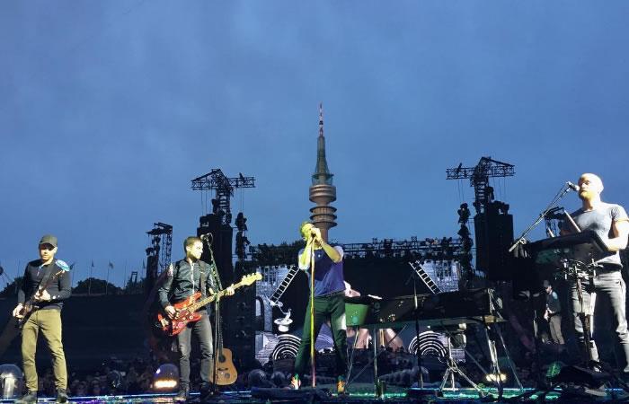 Coldplay de gira por Europa. Foto: Instagram