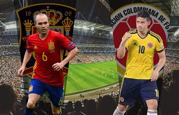 España vs. Colombia: Alineaciones oficiales