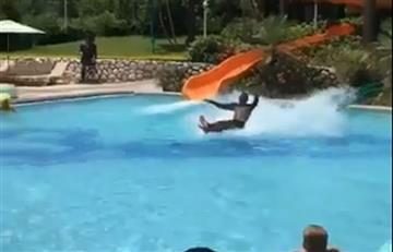Jamaica: Joven se desliza sobre el agua y lo comparan con 'Jesús'