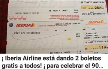 ¡No caiga! Iberia no regala boletos gratis en redes