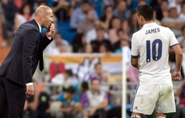 Zidane estaría convenciendo a James de que se quede en el Real Madrid
