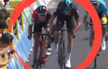 Froome cerró a Richie Porte en la meta, pero aún así le ganaron al británico
