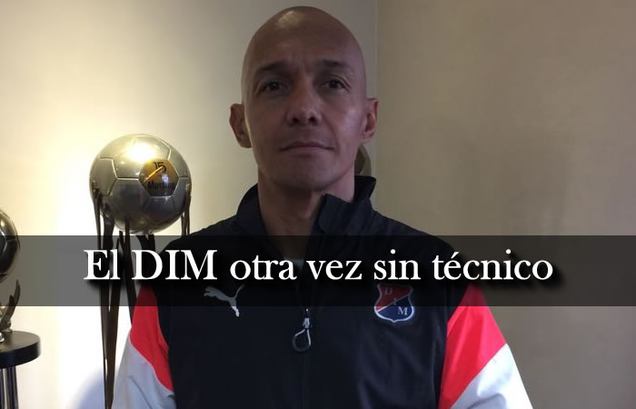 Independiente Medellín: Solo 24 horas duró Martínez como DT