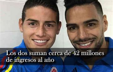 James y Falcao: Los dos deportistas colombianos que más ganan en el mundo