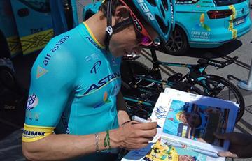'Superman' López se cayó en el Tour de Suiza, pero sigue en competencia