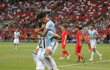 Selección Argentina golea 6 a 0 a Singapur