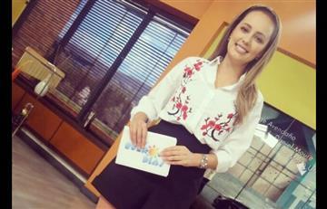 Milena López repite caída en programa 'Muy buenos días'