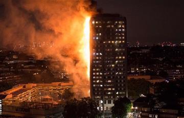 Fuerte incendio se desató en un edificio residencial en Londres