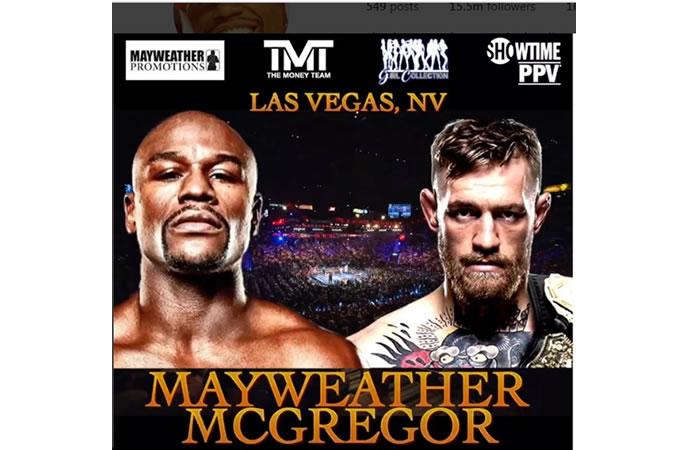 Mayweather vs McGregor, es oficial y la pelea será en agosto