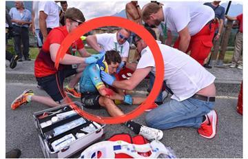'Supermán' López: Parte médico oficial de su caída en el Tour de Suiza