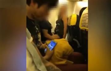 Habló la mujer protagonista del escándalo sexual en el avión