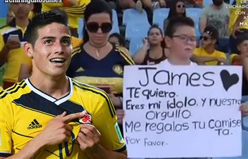 James Rodríguez sorprendió con este gesto a las cámaras de la prensa española