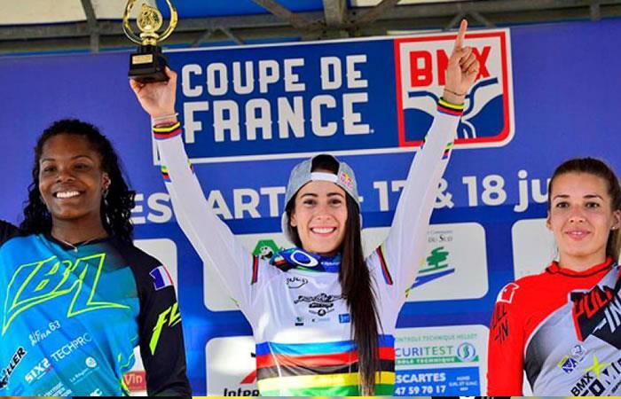 Mariana Pajón invencible en la Copa de BMX