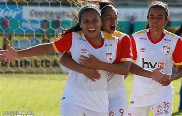 Santa fe ganó en la primera final del fútbol femenino ante Huila
