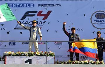Colombiano Santiago Lozano logró podio en el FIA F4
