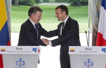 Francia reitera su apoyo al proceso de paz en Colombia