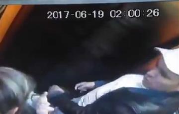 Video: Hombre agrede a su pareja y a un joven que la defendió