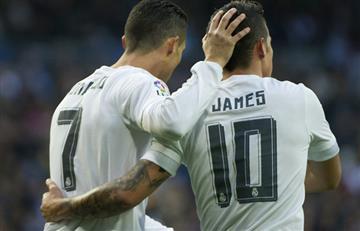 Cristiano Ronaldo se burló del nuevo look de James Rodríguez