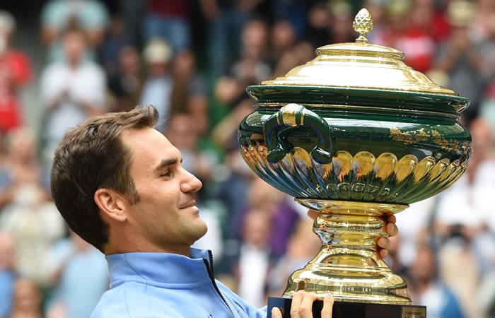 Federer se corona campeón del Torneo de Halle