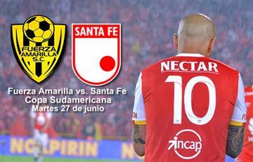 Copa Sudamericana: Santa Fe debuta ante Fuerza Amarilla