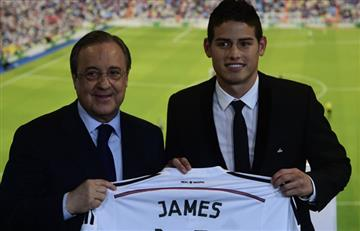 """James Rodríguez es del Real Madrid"": Florentino Pérez"