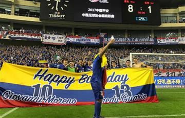 Fredy Guarín celebra su cumpleaños con doblete y renovación
