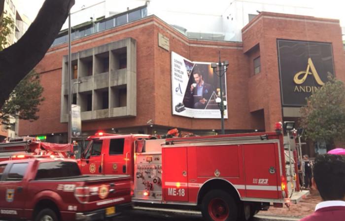 Centro Comercial Andino el día de la explosión. Foto: Twitter