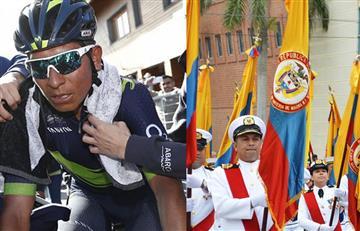 Tour de Francia: Nairo Quintana recibe gran homenaje de fuerzas armadas