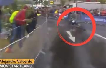 Tour de Francia: Valverde cae y Nairo pierde su ficha clave