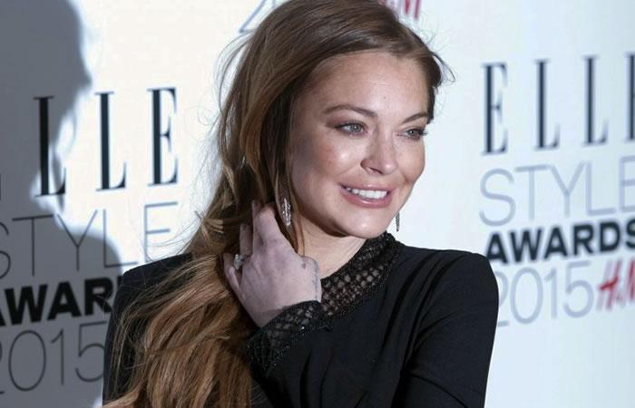 Lindsay Lohan sorprende con el descuido de su apariencia física. Foto AFP.