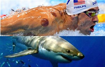 Michael Phelps se medirá con un tiburón blanco en una carrera