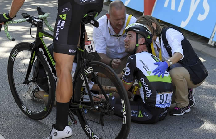 Tour de Francia: Cavendish se retira por su accidente con Sagan