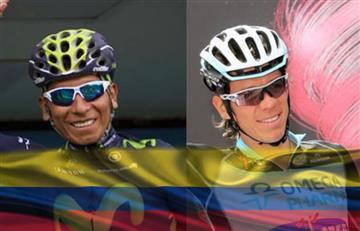 Nairo Quintana y Rigoberto Urán entre los 10 mejores de la etapa 5