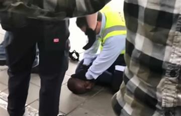 Video: 'Colados' en tren de Alemania reciben brutal trato