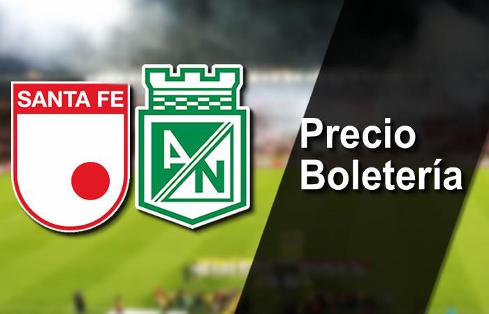 Santa Fe vs. Nacional: Precio boletería Liga Águila 2017-ll