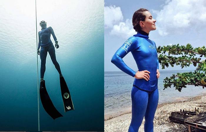 Sofia Gómez impone récord mundial de apnea