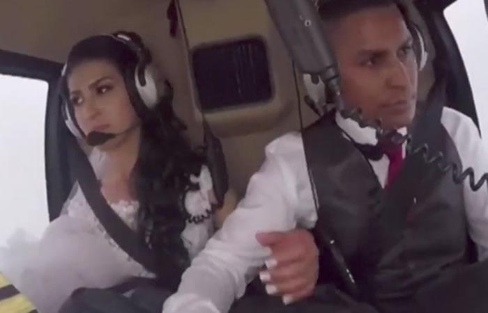 El trágico accidente de helicóptero que llevaba a novia a su boda