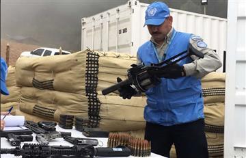 ONU inició proceso de destrucción del armamento de las Farc