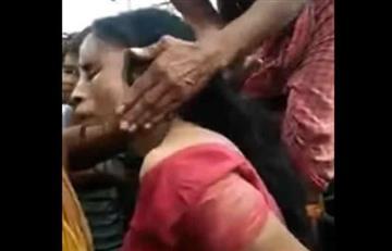 Video: Linchan a una mujer con problemas mentales hasta la muerte
