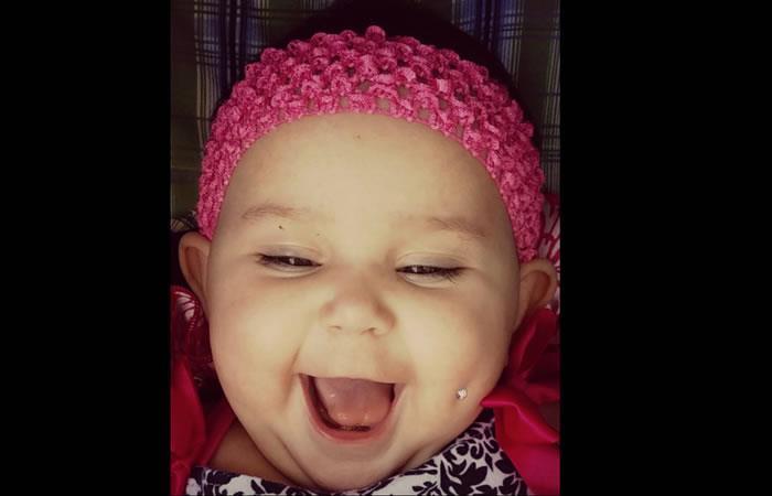 Viral: Bebé con piercing en su rostro se tomas las redes