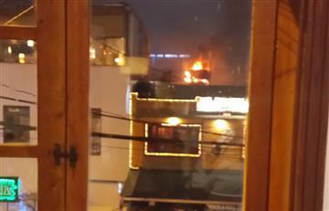 Bogotá: Fuerte incendio se desató en un restaurante del norte de la ciudad