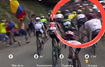 Tour de Francia: Captan grosero golpe a Fabio Aru por parte de Froome