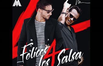 Maluma celebra su versión salsa de 'Felices los 4' con Marc Anthony