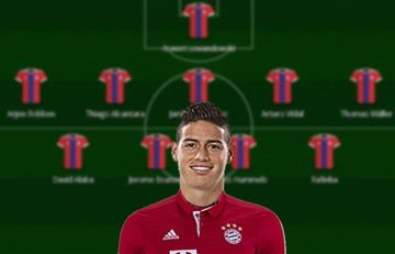 James Rodríguez: Así formaría el Bayern Múnich con el colombiano