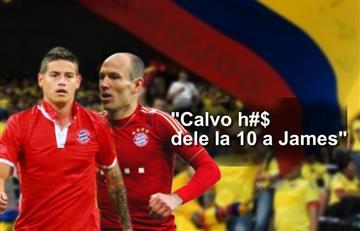 James Rodríguez: Colombianos atacan a Robben para que le de la 10