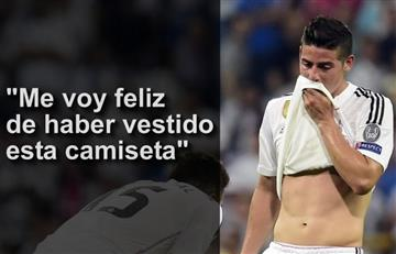 James Rodríguez se despide del Real Madrid con emotivo mensaje y video